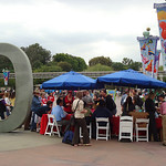 "Check-in took place right next to the big ""C"" in California in the entrance plaza"
