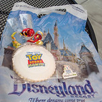 The goodie bag include a Toy Story Mania sugar cookie and a Disney Parks Blog pin, which can only be given out by the editors of the Disney Parks Blog