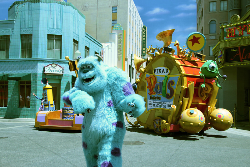 Appearing periodically in front of the Hyperion Theatre, Monsters Inc. Mayhem is a live performance street show which provides the opportunity for DCA guests to meet their favorite monsters as well as provide electricity for Monstropolis.