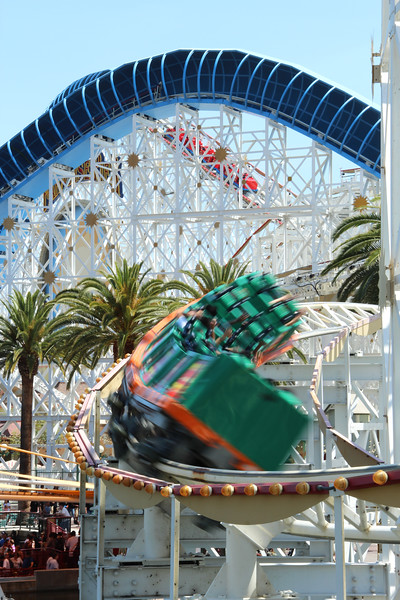 California Scream'in is the only attraction in DCA which provides a view of construction underway... while inverted.