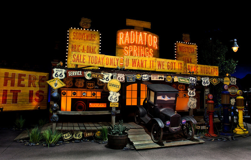 LIZZIE IN RADIATOR SPRINGS RACERS -- Coming to Disney California Adventure park June 15, 2012, Cars Land features three immersive family attractions showcasing characters and settings from the Disney-Pixar film,