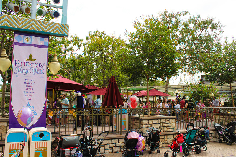 The new location for the Princess Meet and Greet is on the right side of the pathway to It's a Small World in Fantasyland.