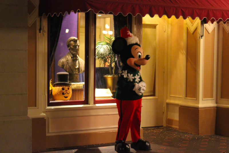 Mickey in his Christmas Sweater.  A little Halloween is also left over too.