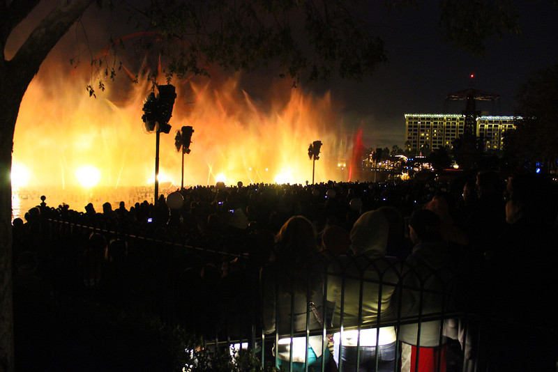 The fire scenes from Pirates of the Caribbean during World of Color.