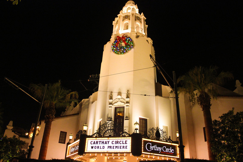 Carthay Circle with a large  Wreath.