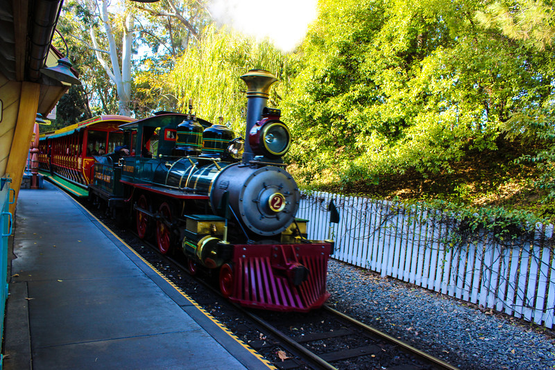 Disneyland Limited steams into Toontown Station.