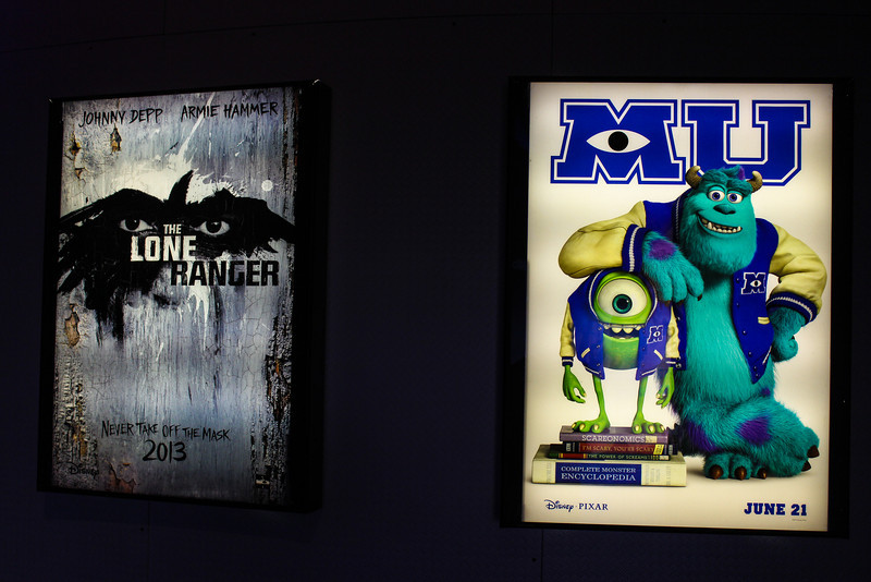 Movie advertising inside Innoventions.