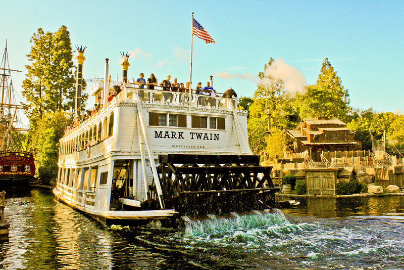 Mark Twain steaming for the back country.