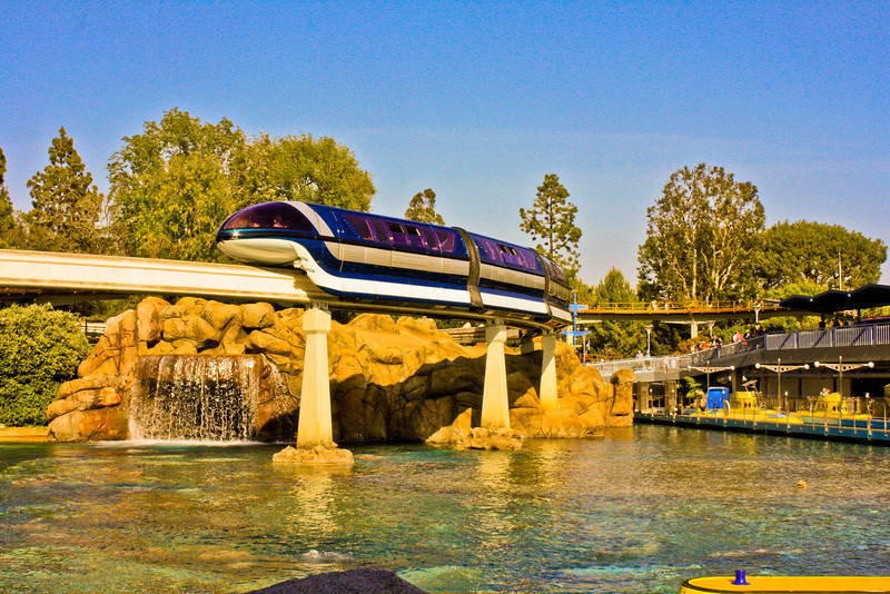Monorail Blue over Finding Nemo Submarine Voyage.