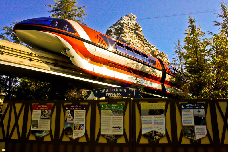 Monorail Orange beneath Matterhorn.