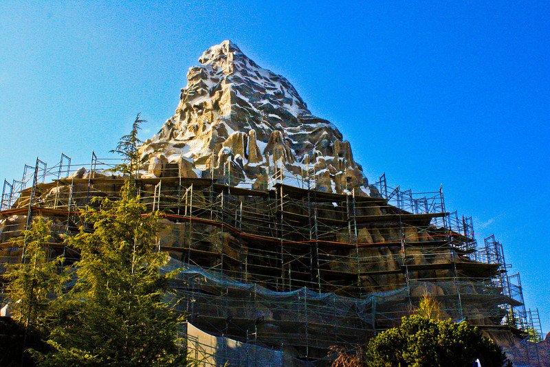 Matterhorn as seen from Tomorrowland.