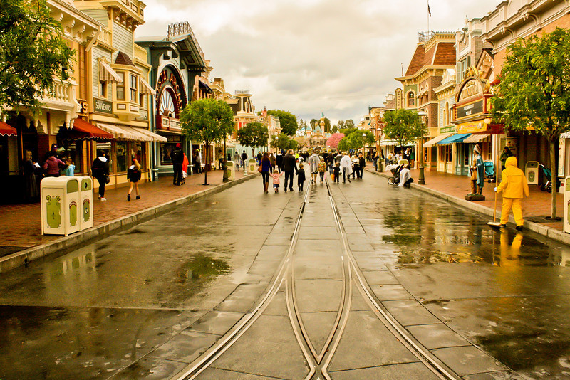 Main Street in the afternoon on a Friday! Can't beat rainy days.