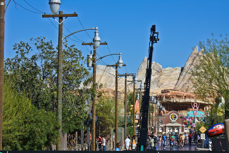 Take a good look.  This scene is coming to a Disney Resort Carsland Commercial on a TV Station Channel near you!