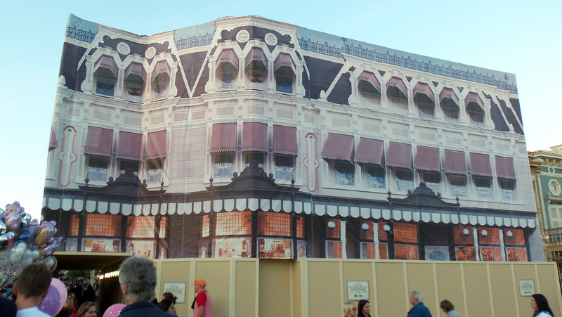 Still a lot of refurbishment on Main Street