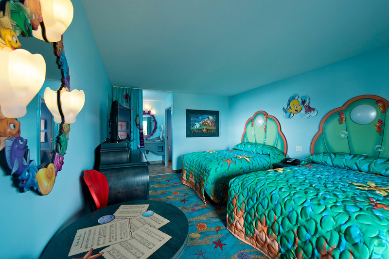 Guests at Disney's Art of Animation Resort are invited to slumber in Ariel's colorful retreat at 