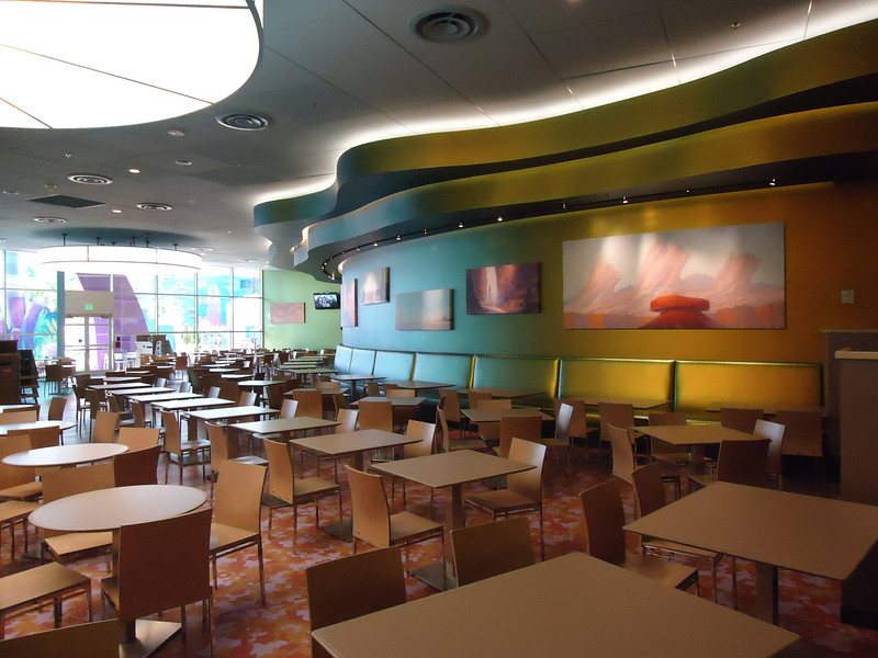Cars section of food court