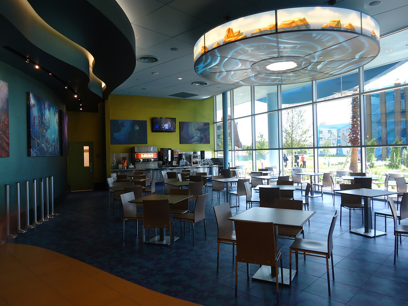 Little Mermaid section of food court