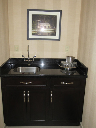 The suite includes a kitchen sink.
