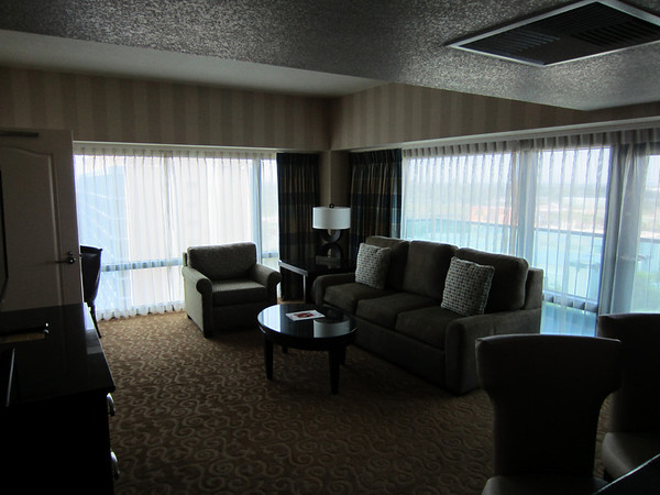 The living room of the suite.