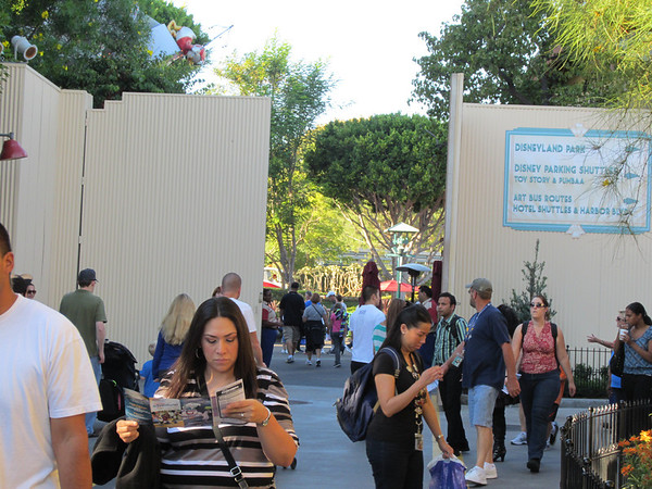 Cast members opened the gates to Downtown Disney to help relieve the crowd density.