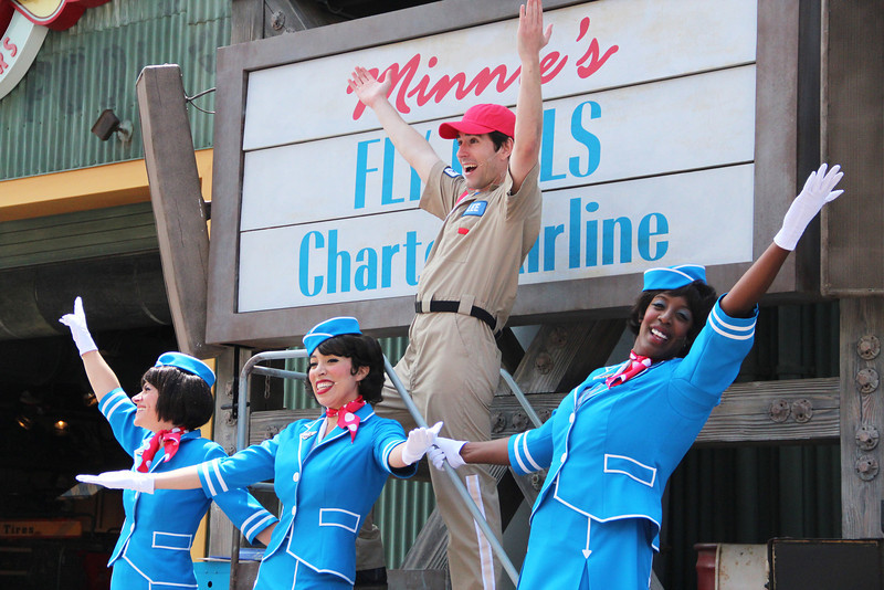 With a prolific daily schedule in Condor Flats, 'Minnie's Fly Girls' are already performing a new routine.