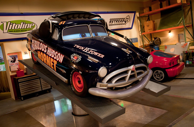 DOC HUDSON IN RADIATOR SPRINGS RACERS -- Cars Land features three immersive family attractions showcasing characters and settings from the Disney-Pixar film,
