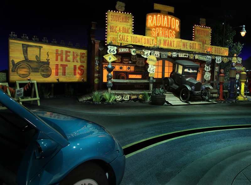 RADIATOR SPRINGS RACERS -- Cars Land features three immersive family attractions showcasing characters and settings from the Disney-Pixar film,