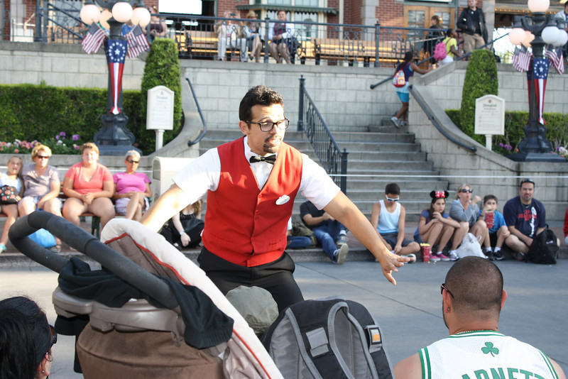 Good Cast Members can really make or break your experience at the resort.  This guy is explaining safety to guests right before Mickey's Soundsational Parade.