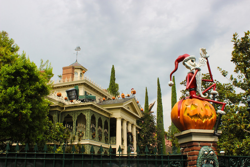 Haunted Mansion Holiday decorations are moving along well.  Less than a week before it's open.