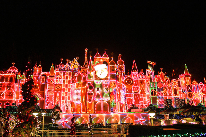 Now let's check out and ride through It's a Small World Holiday!