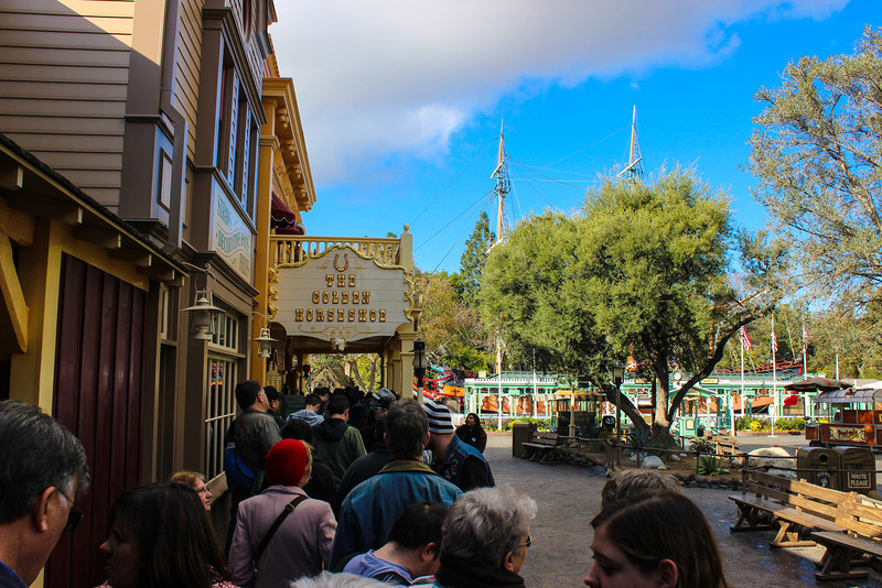 The line wasn't too long, but it took a long time to get through because guests needed to sign a waiver that they may be filmed.