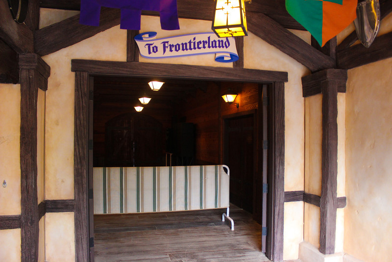 The old entrance to Frontierland takes you to the restrooms and Rancho Del Zocalo.