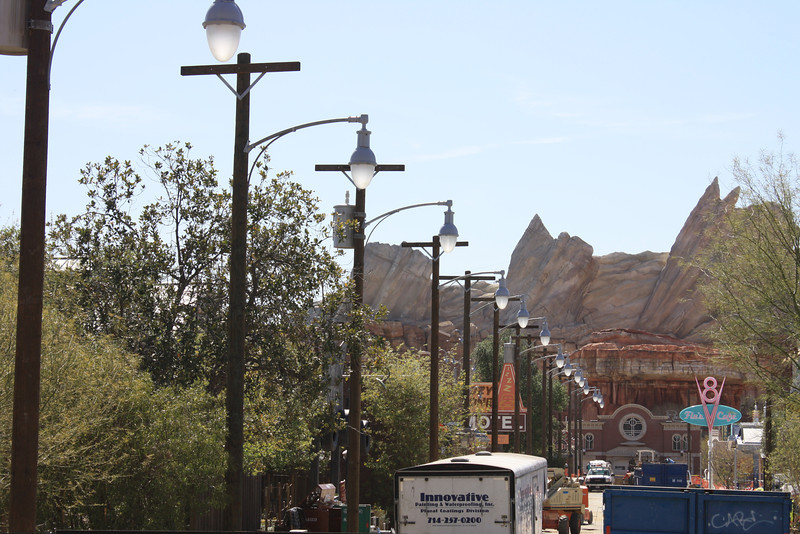 The latest view down Carsland's route 66.