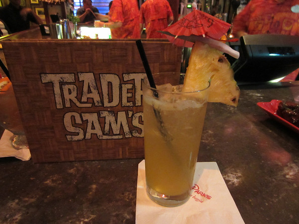 This is the Schweitzer Falls - Tropical juices and Sam's Gorilla Grog topped with Sprite.  A very refreshing non-alcoholic drink.