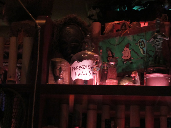 On top of the middle island of the bar sits a nice bit of homage to Disney's Up.