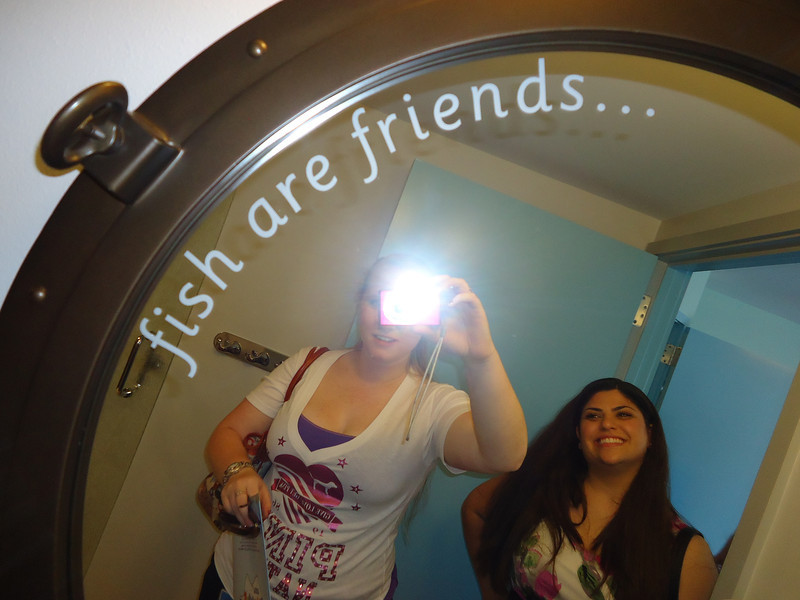 Inscription on Nemo bathroom mirror