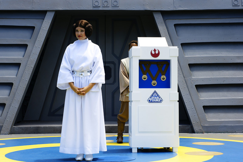 Princess Leia is now giving out medals at the end of JTA now apparently, they feature the rebel alliance emblem and say